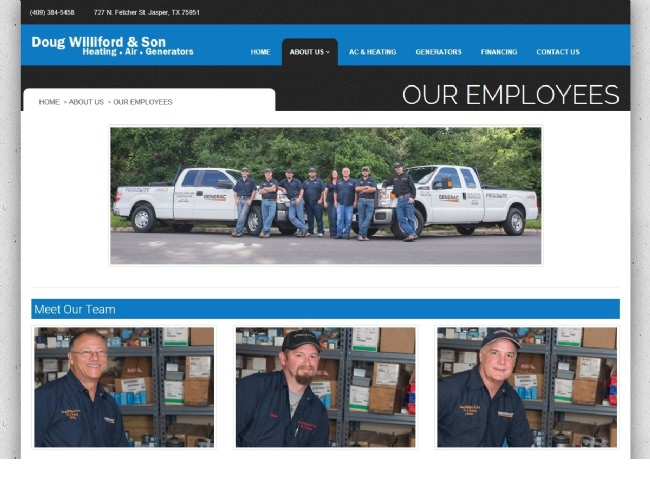 Website Screenshot: Our employees